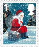 日本人デザインのクリスマス切手