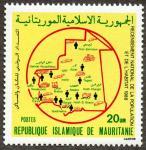モーリタニア地図切手