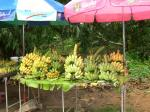 露店のバナナ