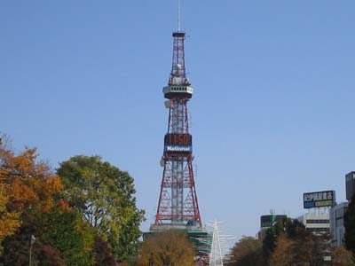 大通り公園からのテレビ塔