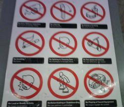 メトロ看板禁止