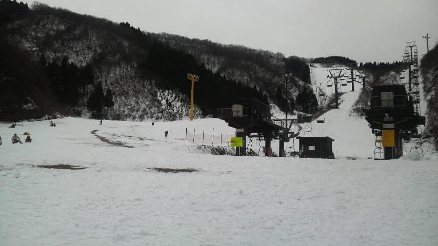 雪が少なかった・・・(ノд-。)クスン…