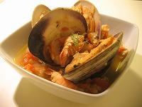 ハマグリとスカンピのスープ