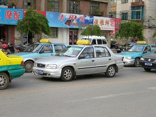 撫順のタクシー3