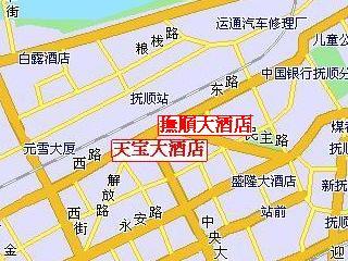 撫順大酒店地図