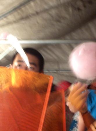 祭りの夜 綿菓子1