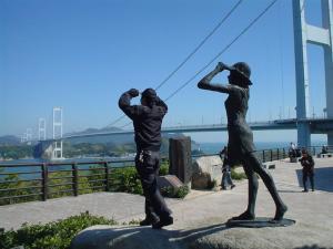 来島海峡に踊る