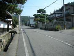 10.滝沢本陣前、白河街道