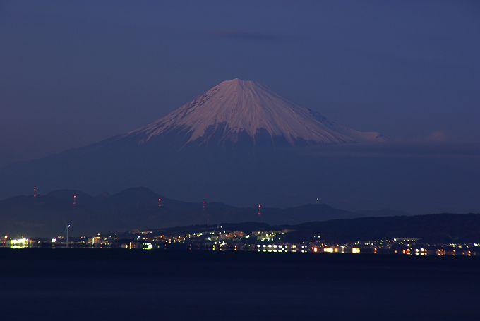 焼津海岸からの富士