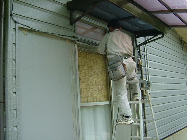 K邸雨戸改修工事着手