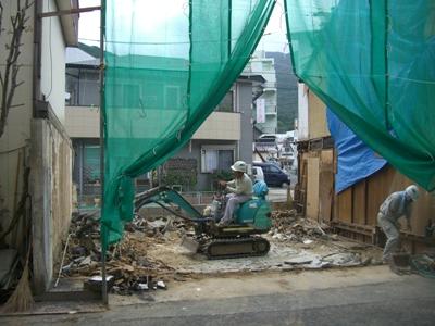 Y本食堂解体~えぶりぃ倶楽部外壁工事