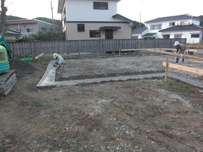 T邸新築工事~捨てコン打設