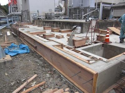 某施設基礎工事~基礎コンクリート打設完了