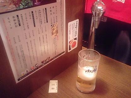 一蘭にビール