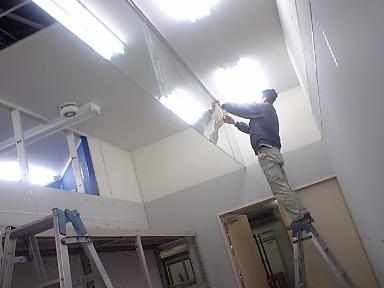 ベスト電器対馬店~防煙垂れ壁硝子工事