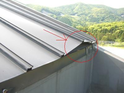 久田中学校体育館屋根補修