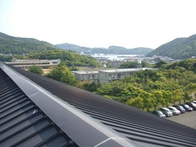 久田中学校体育館屋根からの景色