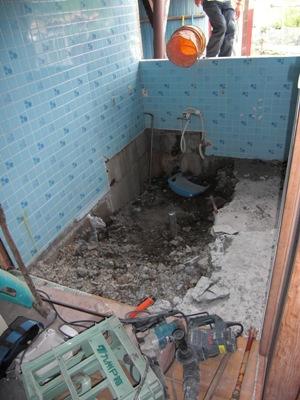 某社宅浴室リフォーム~工事着手