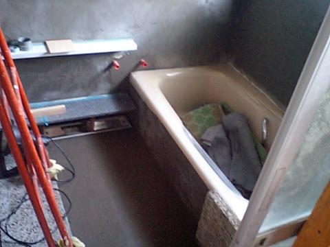 T邸浴室リフォーム~タイル張り
