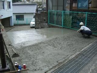 K電工社員寮 駐車場スロープ改修
